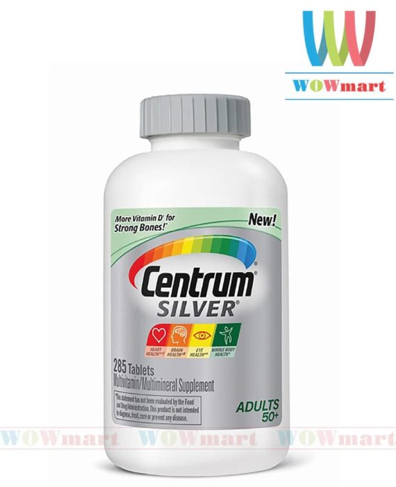 Thuốc bổ dành cho người trên 50 tuổi Centrum® Silver® Adults 50+ 285 viên