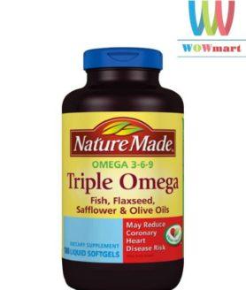 Nature Made Triple Omega 180 viên