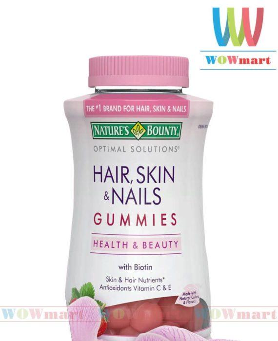 Kẹo dẻo làm đẹp da móng và tóc Nature's Bounty® Hair, Skin and Nails 230 viên