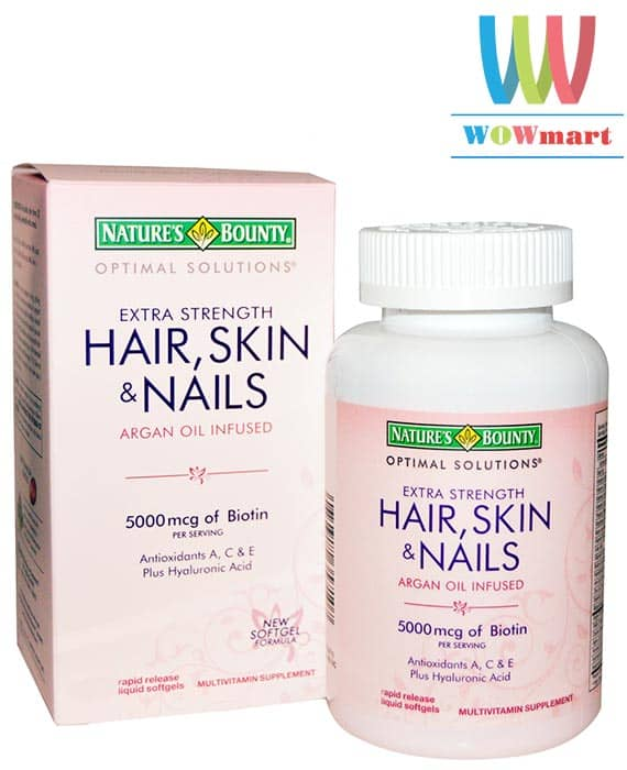 Viên uống đẹp da tóc và móng Nature's Bounty® Hair, Skin and Nails 250 viên