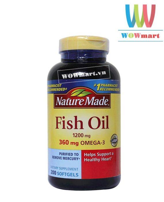 Viên dầu cá Nature Made® Fish Oil 1200mg 200 viên