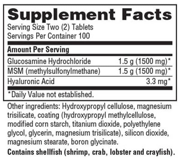 Schiff-GlucosaminMSM-Facts
