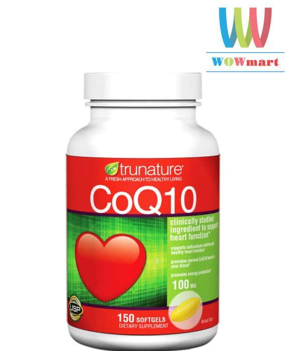 Viên uống hỗ trợ tim mạch trunature® CoQ10 100 mg 150 viên