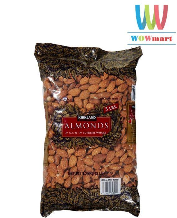 Hạnh nhân không muối Kirkland Signature™ Almonds 1,36kg