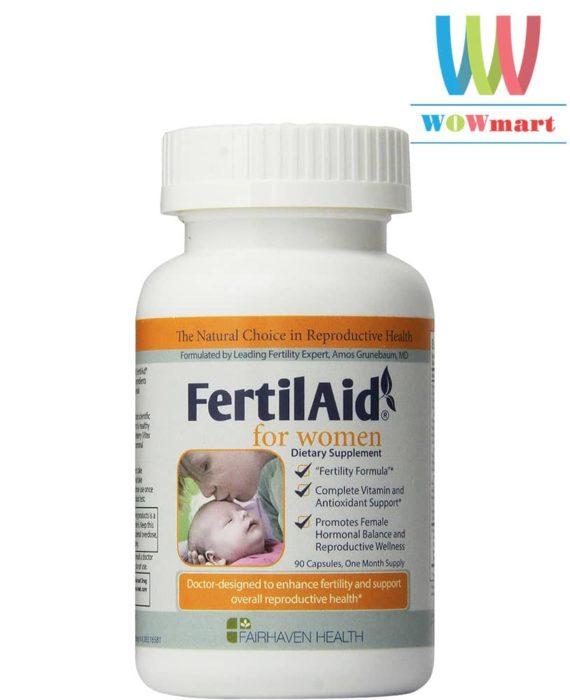 Thuốc tăng khả năng rụng trứng FairHaven Health FertilAid for Women 90 viên