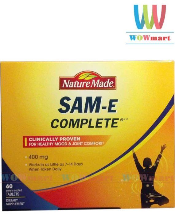 Thuốc an thần an toàn Nature Made® SAM-e Complete® 400mg 60 viên