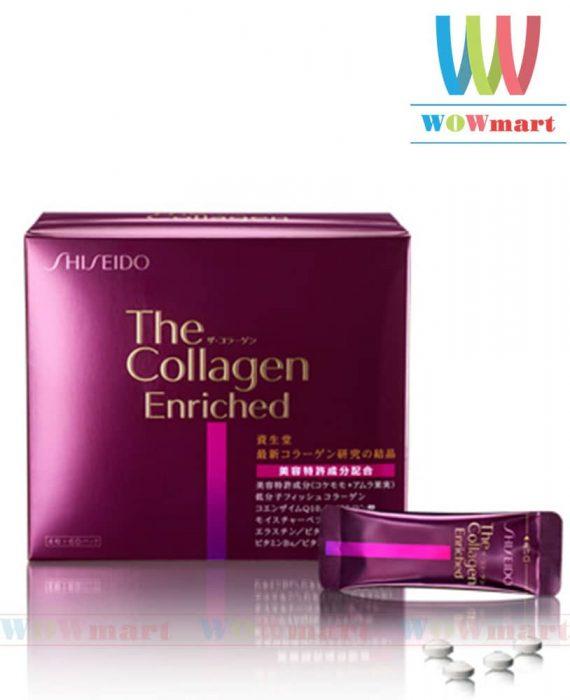Viên uống chậm quá trình lão hóa da Shiseido Collagen Enriched 240 viên