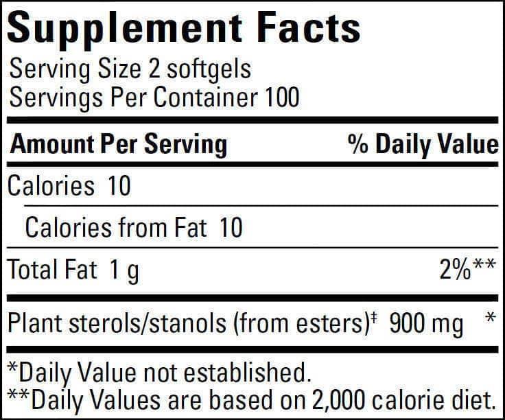 CholestOff Plus 450mg Supp Fact