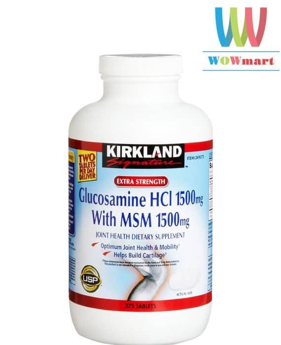 Viên uống hỗ trợ khớp Kirkland Signature™ Glucosamine with MSM 375 viên