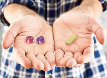 Man-hands-medicine