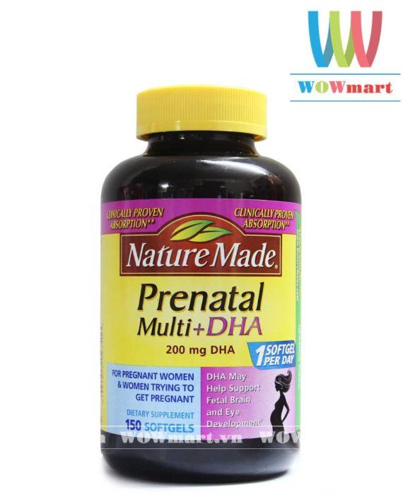 Thuốc bổ bà bầu Nature Made® Prenatal Multi DHA 150 viên