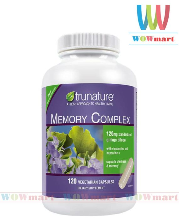 Tăng cường trí nhớ trunature® Memory Complex with Ginkgo Biloba 120 viên