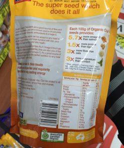 Hạt chia Bioglan Chia Seeds Bioglan Superfoods 750g