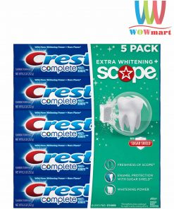 kem-danh-rang-lam-trang-vuot-troi-crest-complete-extra-whitening-plus-scope-toothpaste-5-hop-2018