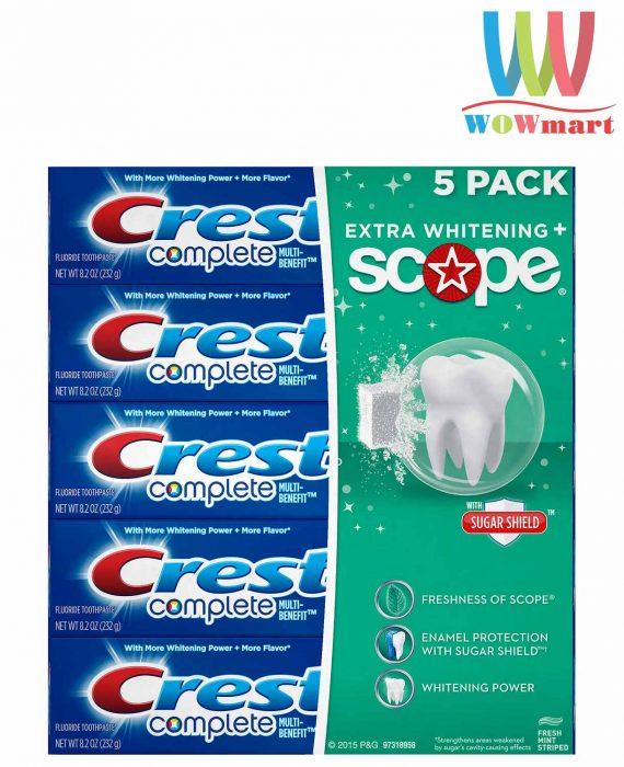 kem-danh-rang-lam-trang-vuot-troi-crest-complete-extra-whitening-plus-scope-toothpaste-5-hop-2018