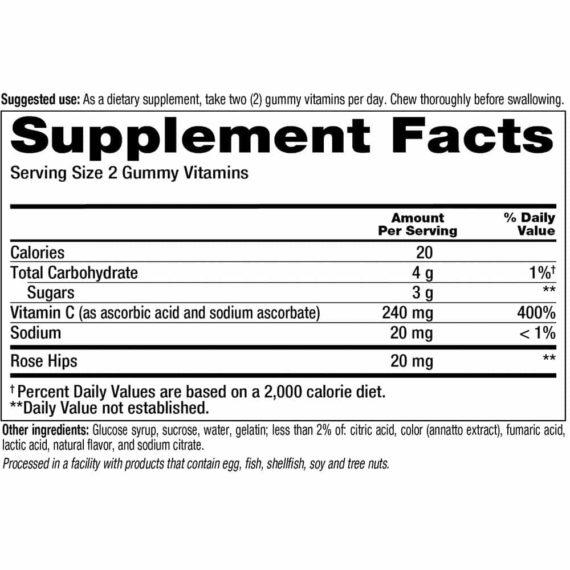 Kẹo dẻo bổ sung Vitamin C vitafusion Power C 150 viên