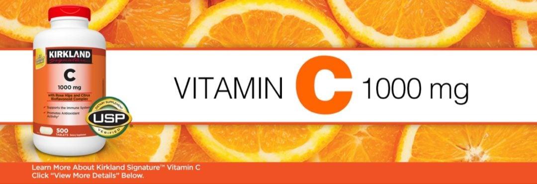 Viên bổ sung C hỗ trợ hệ miễn dịch Kirkland Signature Vitamin C 1,000mg 500 viên