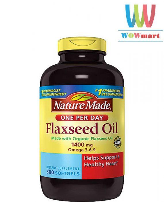 dau hat lanh nature-made-flaxseed-oil-300-vien