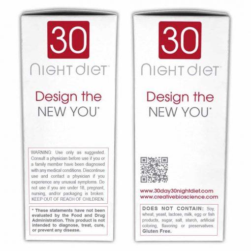 Thuốc giảm cân ban đêm Creative Bioscience 30 Night Diet 60 viên
