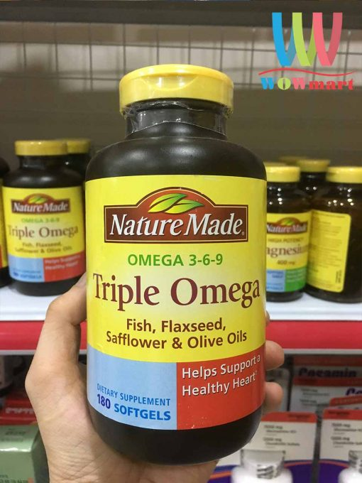 New 2019 Vien Bổ Sung Omega 3 6 9 Nature Made Triple Omega 180 Vien