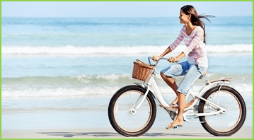 Woman-bicycle