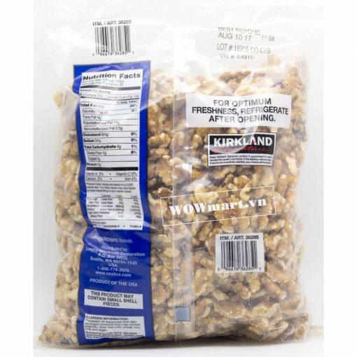 Hạt óc chó Mỹ Kirkland Signature Walnuts 1,36kg