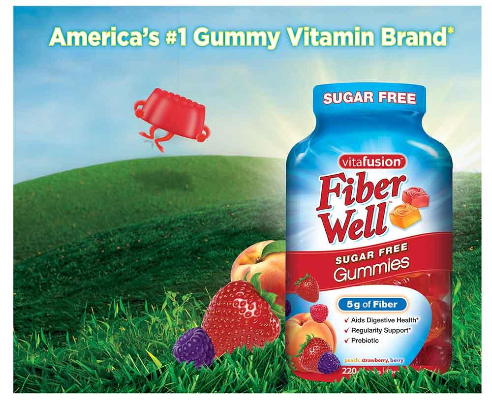 Kẹo dẻo bổ sung chất xơ vitafusion Fiber Well 220 viên