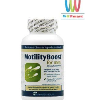 Viên uống tăng tốc độ di chuyển của tinh trùng FairHaven Health MotilityBoost for Men 60 viên