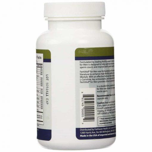Viên uống tăng chất lượng tinh trùng FairHaven Health FertilAid for Men 90 viên