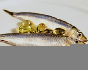 Sprat fish and cod liver oil capsule