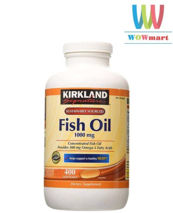 Viên Dầu Cá Kirkland Signature Fish Oil 1000mg 400 viên