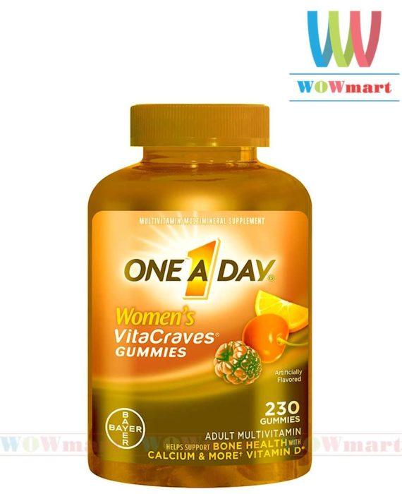 Kẹo dẻo đa Vitamin dành cho nữ One a Day® Women Vitacraves Gummies 230 viên