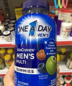 keo deo da vitamin danh cho nam one a day mens vitacraves gummies 230 vien 1