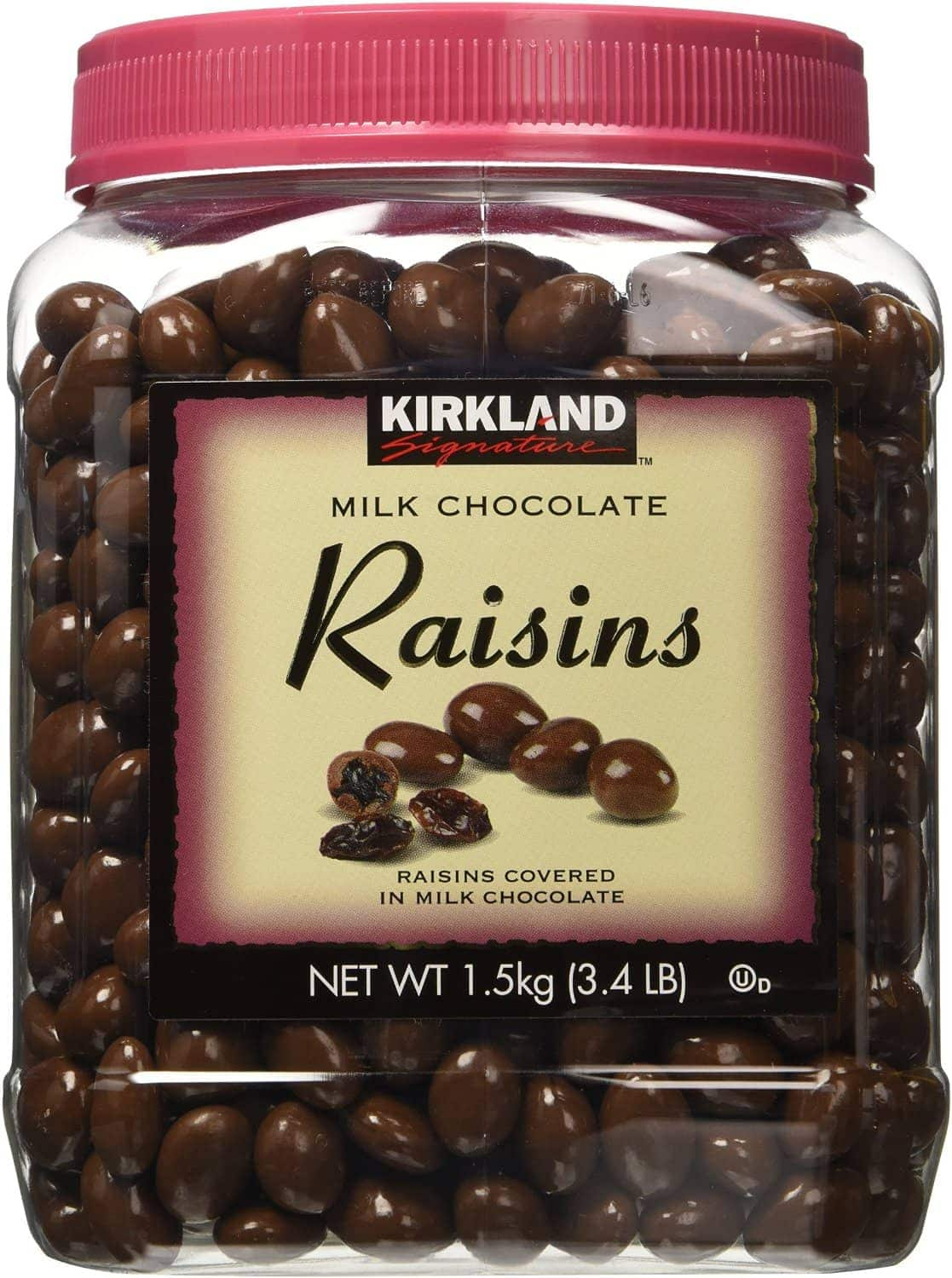 Kirkland Signature Milk Chocolate Raisins, 54 oz