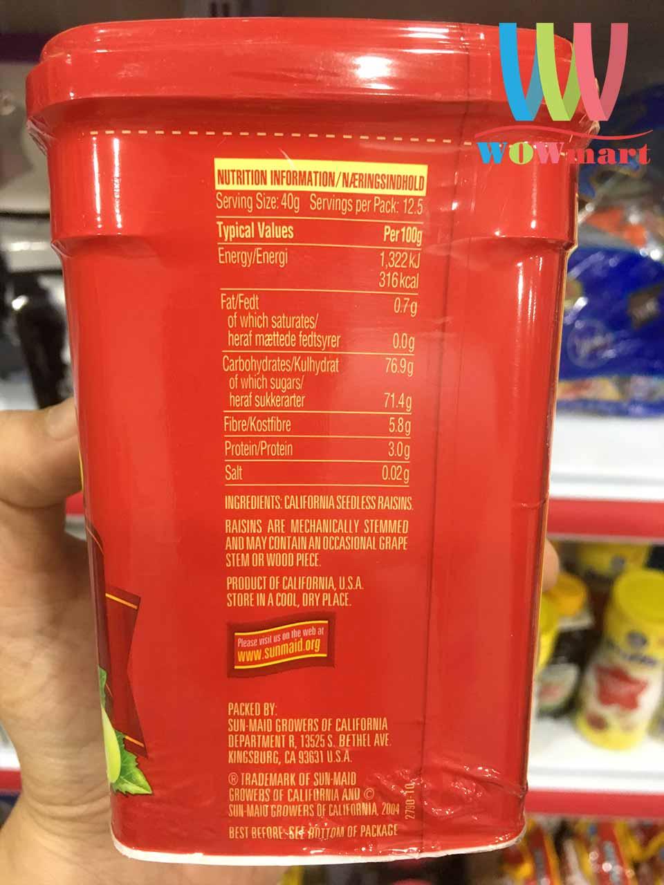 Nho khô Sun-Maid Natural California Raisins 500g
