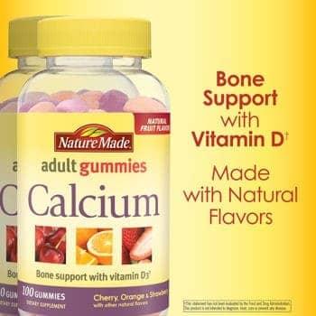 Nature Made Calcium 500 mg, 200 Gummies người lớn