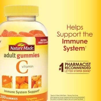 Nature Made Vitamin C 250 mg, 200 Gummies người lớn