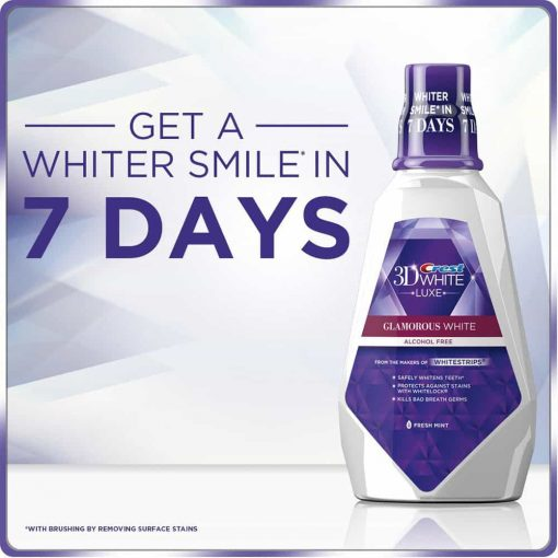 Nước súc miệng Crest 3D White Luxe Glamorous Mouthwash 946ml