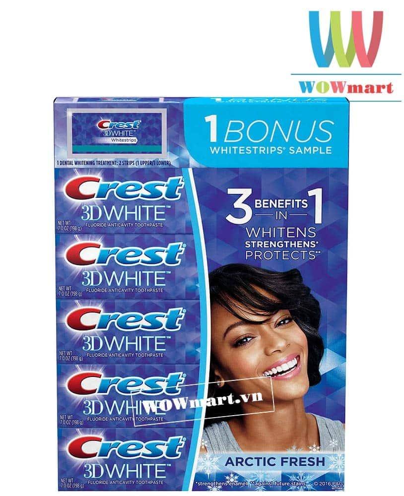 Kem-danh-rang-Crest-3D-Whitening-Toolpaste-198g-x5