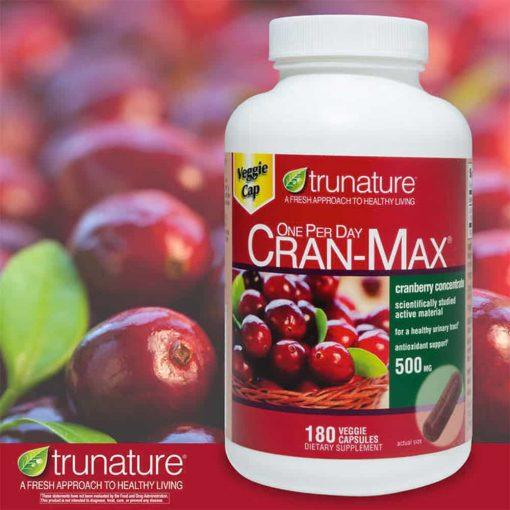 Viên uống hỗ trợ đường tiết niệu trunature CRAN-MAX Cranberry 500mg 180 viên