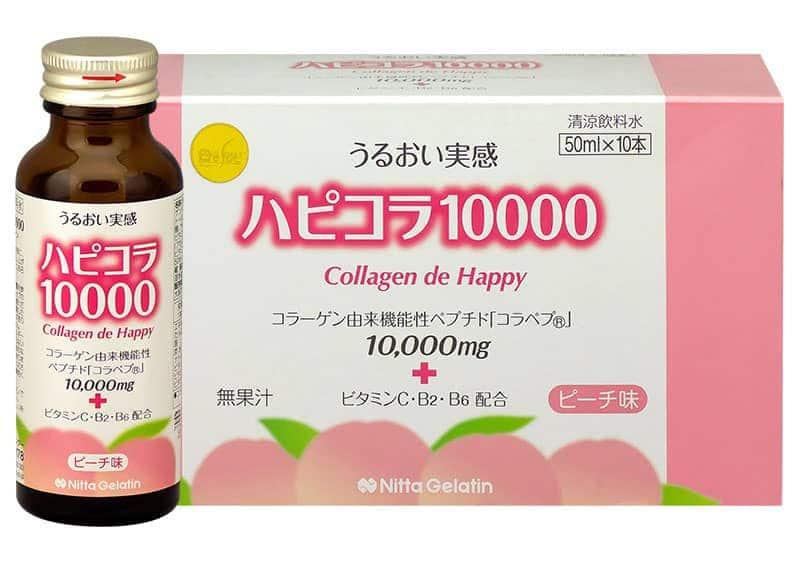 Collagen dạng nước từ Nhật Bản Collagen De Happy 10,000mg Hộp 10 chai