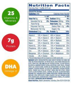 Thành phần có trong sữa Pediasure huong Vanilla 237ml