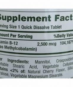 Viên uống Nature's Bounty Vitamin B12 2500mcg 300 viên