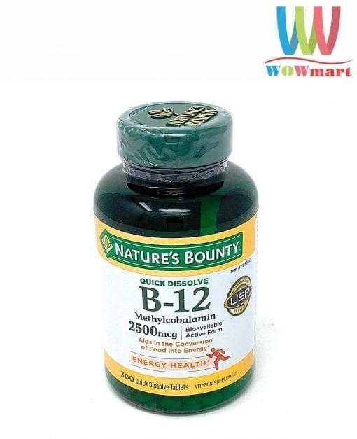 vien uong natures bounty vitamin b12 2500mcg 300 vien kr