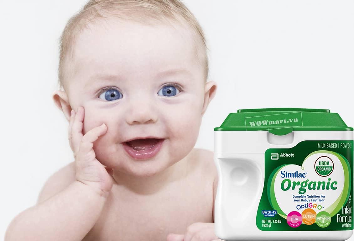 Công dụng của sữa bột Similac Advance Organic 658g là gì