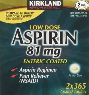 Giới thiệu sản phẩm Kirkland Glucosamine Aspirin 81mg