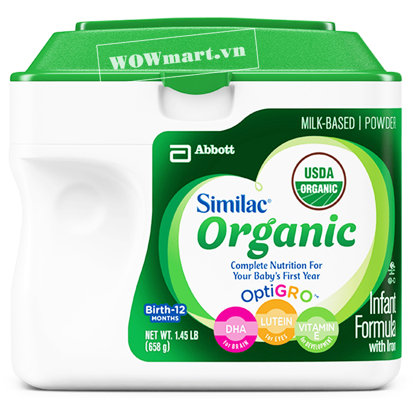 Giới thiệu sản phẩm sữa Similac Organic 658g