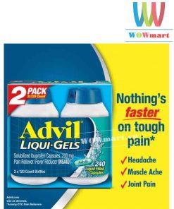 Thuốc giảm đau, hạ sốt Advil Liqui-Gels 240 viên