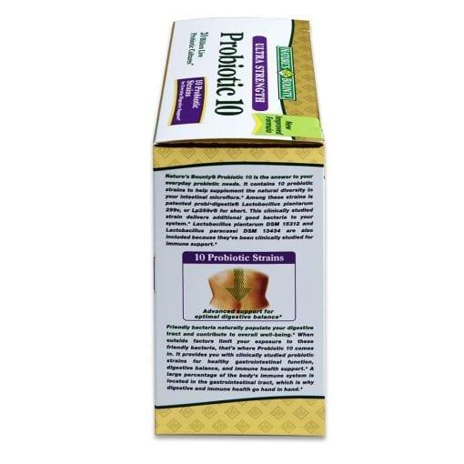 vien uong ho tro tieu hoa natures bounty advanced probiotic 10 140 vien kd