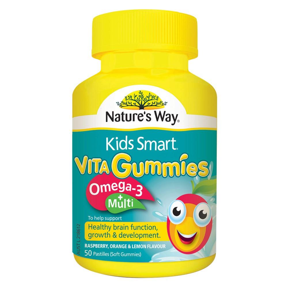 Kẹo bổ đa Vitamin+Omega Kids Smart Omega-3 Multi 50 Gummies